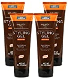 Equate Men Strong Hold Styling Gel, 8.5 Oz (Pack of 4)