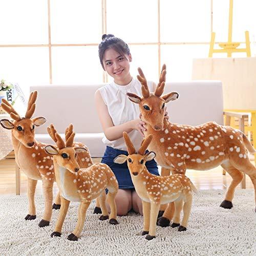 50-90cm simulación de niños de Peluche de Ciervo Sika Juguetes de Peluche de Ciervo muñecas niños Playmate niños Regalo de cumpleaños decoración del hogar 70cm