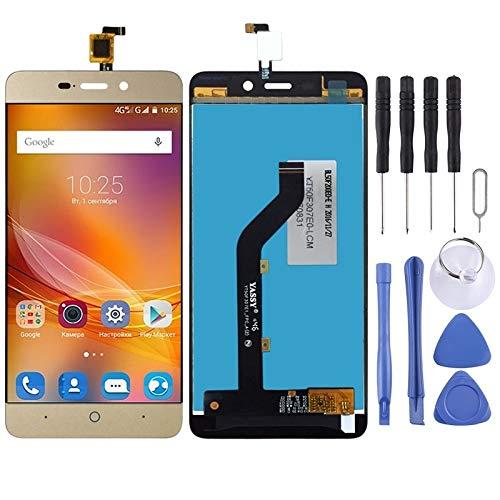 Zhouzl Repuesto de teléfono Pantalla LCD y digitalizador Asamblea Completa for ZTE Blade X3 T620 A452 Repuesto de teléfono (Color : Gold)