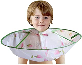 Portonss Kids Boy Hair Cutting Cape Umbrella Gown Hairdresser Apron Hairdressing Children Girl Haircut Cloak