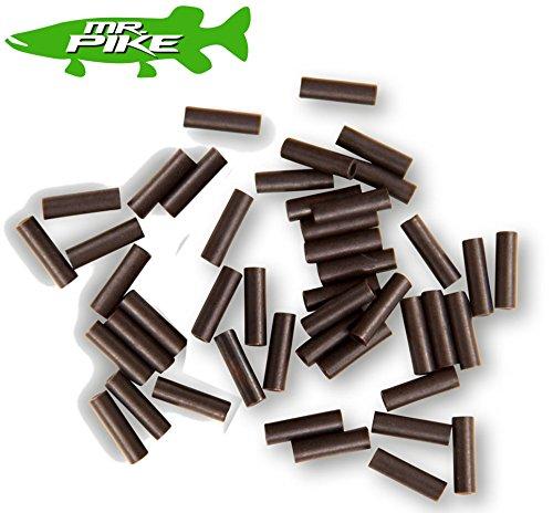 Quantum Mr Pike Power Sleeves - 50 Klemmhülsen zum Crimpen von Stahlvorfächer, Quetschhülsen für Stahlvorfach, Crimphülsen, Durchmesser:Gr. S / 0.84mm