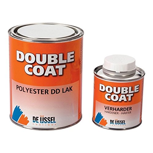 De IJssel 2K Klarlack Bootslack Double Coat | 1 kg Set | Lack transparent zum Streichen mit Pinsel und Rollen mit Walze für Holz Gfk Epoxid Polyester ABS Stahl Aluminium