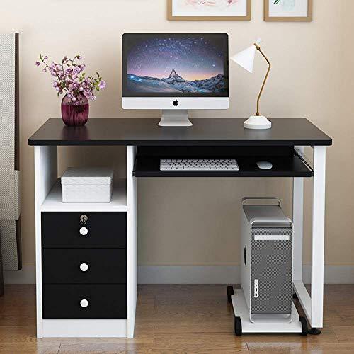 Alaeo Mesa de Ordenador Mesa de Trabajo Moderna con cajones Mesa Mesa de PC Mesa Mesa de Trabajo de Monedas para la Oficina Mesa de Ocio Mesa de Conferencia escritorio-120cm D