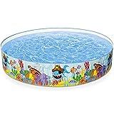 Nologo ZGYM Fast Set Piscina Redondo Inflable sobra la Tierra 14,96 × 72.04inchl, Patio Piscina, almacenaje Plegable En la Tierra, de Piscina Inflable Infantil Juego de la Piscina