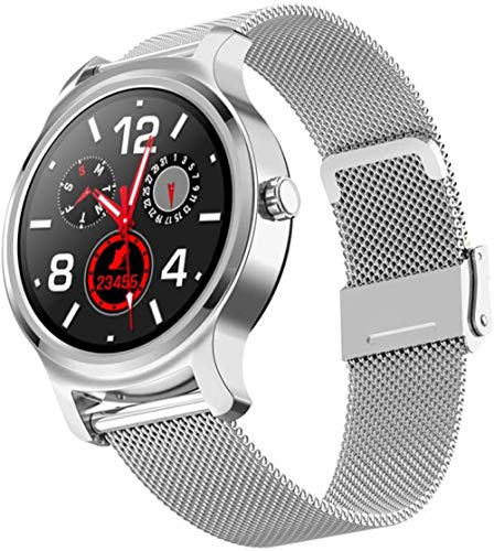 hwbq Reloj inteligente de 1,3 pulgadas, pantalla redonda a color, rastreador de fitness, resistente al agua, IP67, podómetro, cronómetro