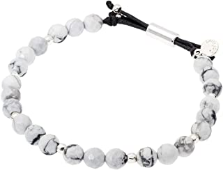 Power Gemstone Howlite Beaded Bracelet for Calming 17120532SPKG