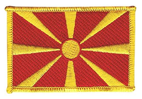 Flaggenfritze Flaggen Aufnäher Mazedonien Fahne Patch + gratis Aufkleber
