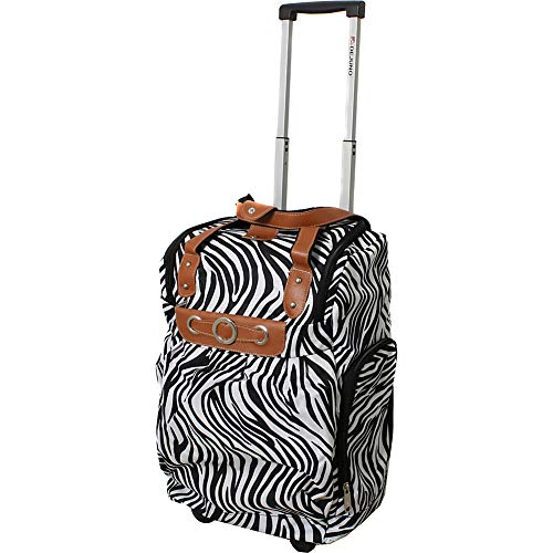 Dejuno Lightweight 20' Easy Travel Rolling Carry-On Luggage, Zebra, Inch