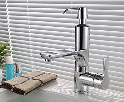 Retro Deluxe Faucetinging Envío gratis Cocina o lavabo grifo de la cocina con dispensador de jabón nuevo moderno latón cromado cascada grifo grifo grifo de agua KF442