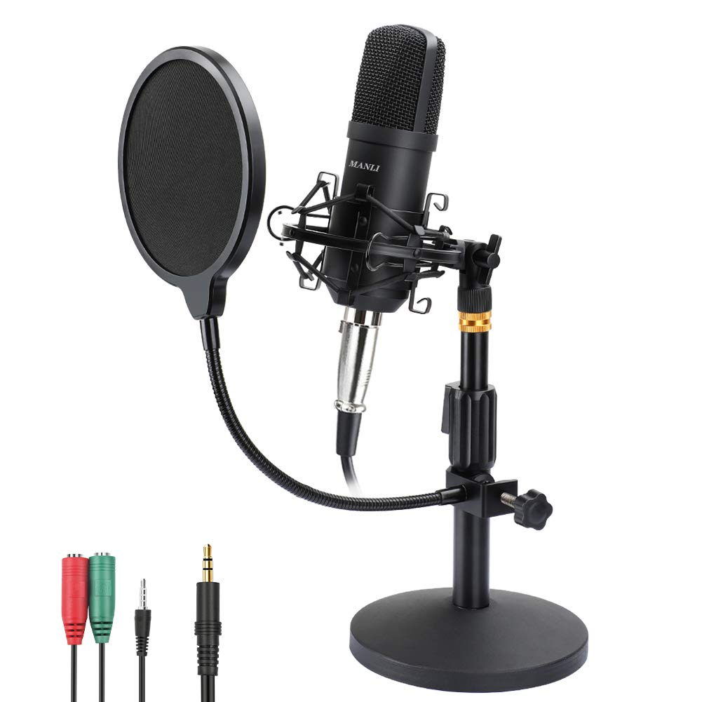 Professional Condenser Microphone Podcasting Broadcasting