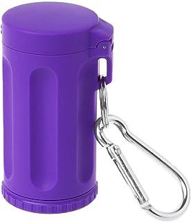 JERKKY Bolsillo cenicero con Tapa Portátil Mini a Prueba de Viento Cadena dominante Accesorios para Fumar al Aire Libre Púrpura