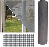 Mosquitera Ventana y Puertas | Pantalla Para Insectos. Protección Ventana y Puertas con Malla Mosquitera de Fibra de Vidrio (0,60_x_3_Metros, GRIS)