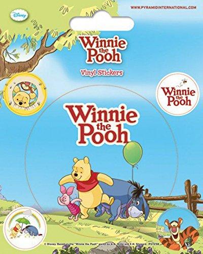 1art1 Winnie l'ourson Poster-Sticker Autocollant - Porcinet, Bourriquet Et Winnie l'ourson avec Ballon (12 x 10 cm)