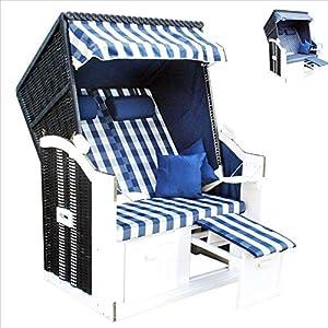 WOHNWERK! Strandkorb Ostsee de Luxe XL. Jetzt mit zweiten Bezug gratis + 2 Kissen! Versandkostenfrei!