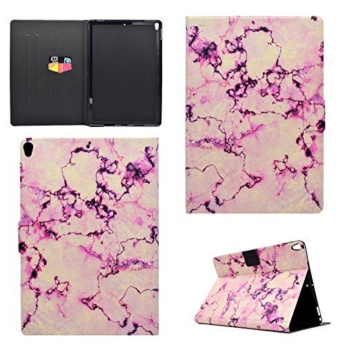 Ostop Compatibile con Cover iPad PRO 10.5 2017,Disegno Marmo Custodia Tablet Portafoglio in Pelle PU Slim [Auto Sveglia/Sonno] Cover Supporto Flip Magnetico per iPad PRO 10.5 2017,Rosa