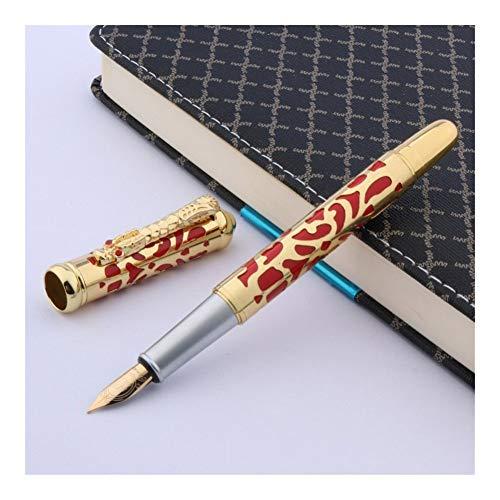 Chinese rode metalen handschoen draak schilderij trimmen M fontein pen