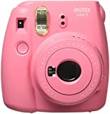 Fujifilm Instax Mini 9 Instant Camera, Flamingo Pink, 2.7x4.7x4.6