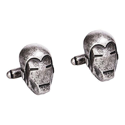 Marvel Comics Iron Man 3D Manschettenknöpfe (Silber) - None