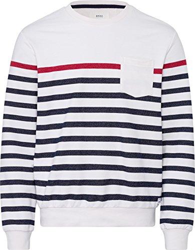 BRAX Herren Style Sawyer Sweatshirt, White, XX-Large