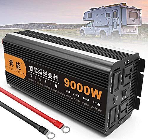 Reiner Sinus Spannungswandler Wechselrichter 2200W 3200W 4000W 5000W 6000W 8000W 3000W 12000W 15000W Inverter Pure Sine Wave Konverter 12V 24V auf 220V 230V mit Fernbedienung,LCD und USB (9000W,24V)