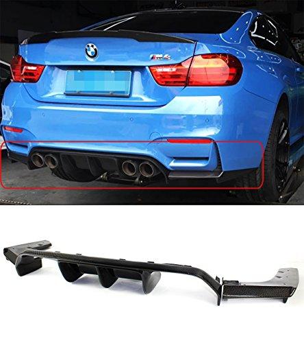 Fits for 2015-2019 BMW F80 M3 & F82 F83 M4 Carbon Fiber Bumper Diffuser 3 Piece Design - V Style