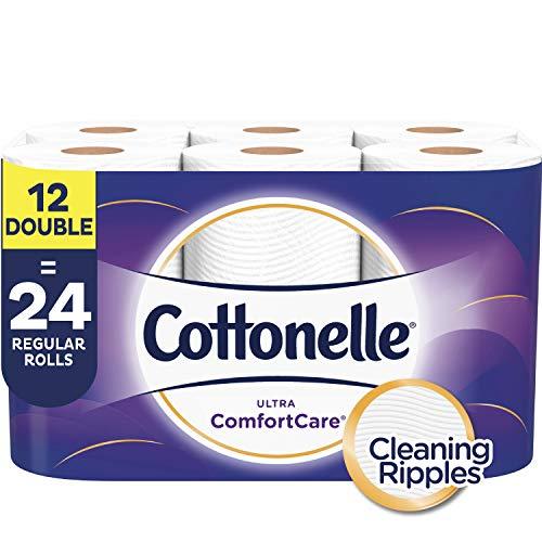 Cottonelle Ultra ComfortCare Toilet Paper, 12 Double Rolls