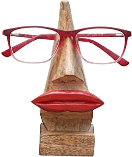 Belexy Wooden Handmade Red Lips Witty Wooden Spectacles Holder Stand, Eyeglass Holder, Eyewear Retainer, Sunglasses Quirky...