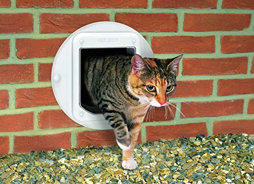 Cat Mate Microchip Activated Cat Flap, Exclusive Entry, Simple Installation, 4-Way Manual Locking, Energy Efficient, Draught Excluder with Cat-Preferred Tinted Flap