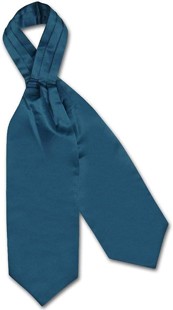 Vesuvio Napoli ASCOT Solid BLUE SAPPHIRE Color Cravat Men's Neck Tie