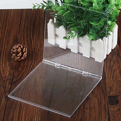 Kesote Stempelblock Falten Acrylblock Doppelt Plattform mit Gitter für Scrapbooking Basteln, Transparent