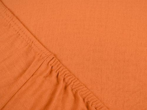npluseins klassisches Jersey Spannbetttuch – erhältlich in 34 modernen Farben und 6 verschiedenen Größen – 100% Baumwolle, 70 x 140 cm, terrakotta - 4