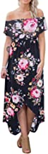 High Low Dress for Women - Cute Summer Sexy Floral Off Shoulder Casual Cocktail Beach Maxi Dress