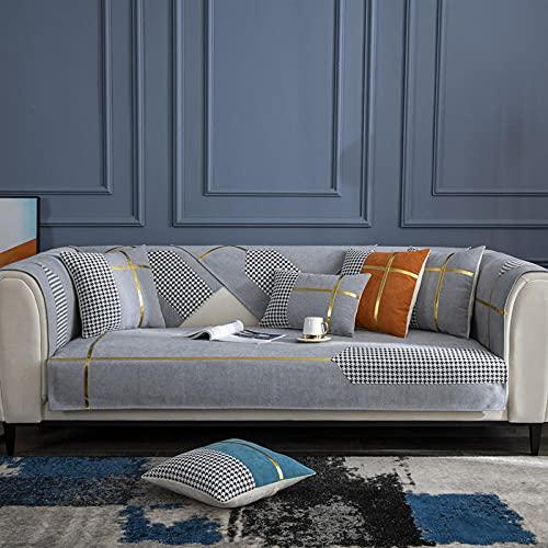 Funda Chaise Longue Acolchado para cojines individuales, fundas de cojines decorativos Fundas de cojín modernas para exteriores Fundas de almohada de lujo para sofá cama gris 35 * 28 inch