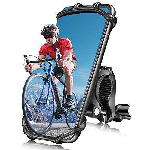 Handy Fahrradhalterung, Abnehmbare Handyhalterung Fahrrad für 4.0-7.5 Zoll Smartphone,Universal 360° Verstellbare Anti-Shake Motorrad Handyhalterung mit Sicherheitsgummi für Rennrad Mountainbike