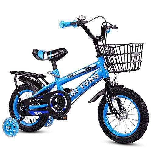 N&I Bicicletas de montaña para niños de 3 a 9 años, con ruedas asistidas Flash Assist, 14 pulgadas, color amarillo