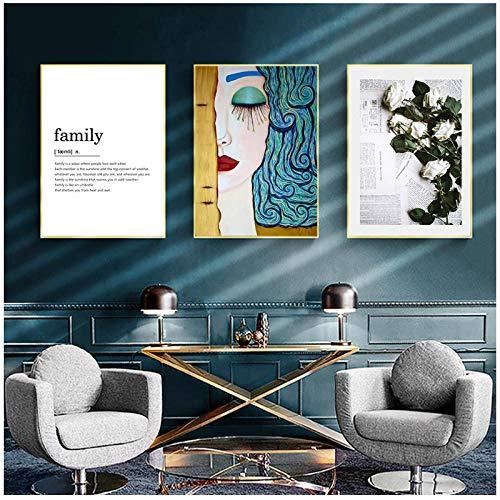 Zhaoyangeng Canvas Tekst Schilderen Liefde Kunstwerk Moderne Pop Street Art Inspirationele Wandkunst Canvas Wandfoto voor Home Decor- 40X60Cmx3 Geen Frame