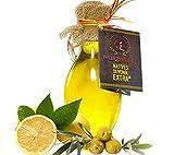 Zitronenöl, Zitronen - Öl aus Nativem, Extra Vergin Olivenöl und ätherischem Zitronenöl aus...