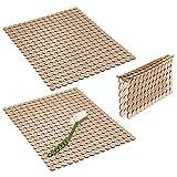 mDesign Juego de 3 escurreplatos de plástico – Práctica rejilla para...