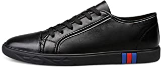 XUJW-Shoes, Fashion Sneakers for Men Skate Shoes Lace Up Durable Comfortable Walking Shopping Travel Leather Light-Transparent Outdoor Anti Slip Sport Round Toe (Color : Black, Size : 2.5 UK Child)