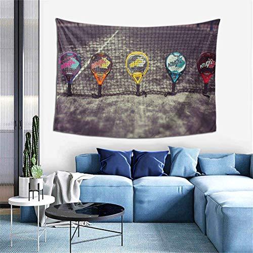 Tapiz de decoración de Pared - Pista de pádel Hippie Tapiz artístico para Colgar en la Pared - Manteles Extra Grandes para Dormitorio, Sala de Estar, Dormitorio, decoración del hogar