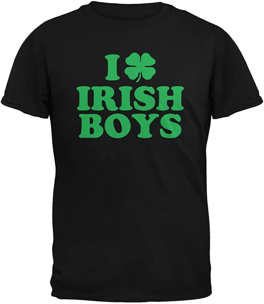 St. Patricks Day - I Shamrock Love Irish Boys Black Youth T-Shirt