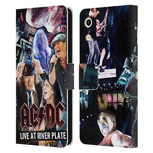 Head Hülle Designs Offizielle AC/DC ACDC Konzert Collage Leder Brieftaschen Handyhülle Hülle Huelle kompatibel mit Huawei Honor Play 8A