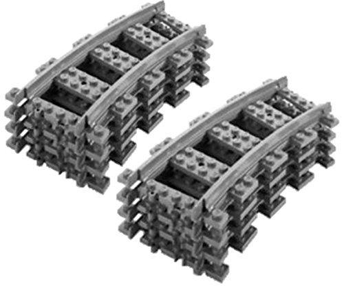 8x Gebogene Kurvenschienen für Lego City Eisenbahn