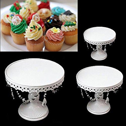 OUKANING Tortenständer Etagere Kuchenständer, 3X Tortenständer Kristall Hochzeit Party Hochzeitstorte Muffinständer Deko
