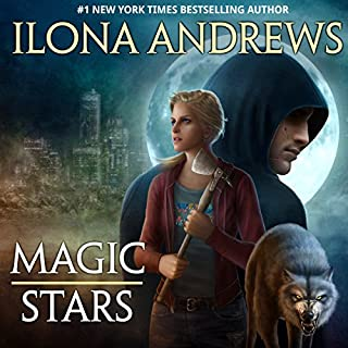Magic Stars     Grey Wolf, Book 1              Written by:                                                                                                                                 Ilona Andrews                               Narrated by:                                                                                                                                 Jeffrey Kafer                      Length: 2 hrs and 1 min     4 ratings     Overall 3.8