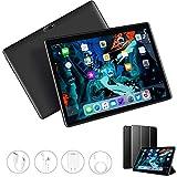 Tablet 10 Inch, Dual 4G LTE, 5G WIFI, Quad-Core, Android 9.0 Tablet PC, 3GB RAM 32GB ROM/128GB Computer Tablets, 8500mAh Battery, Dual 8MP Camera, Bluetooth/GPS/OTG Unlocked Tablet (Black)