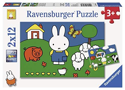 Ravensburger 075669 Puzzel Nijntje: 2X12 Stukjes, 36+ mnd