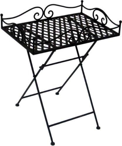 CALEIDO tuintafel klaptafel bijzettafel bistrotafel turijn metaal donkerbruin rechthoekig