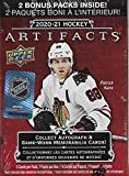 2020 2021 Upper Deck ARTIFACTS Hockey Series Factory Sealed Unopened Blaster Box of Packs with Possible Rookies, Autographs and Jerseys
