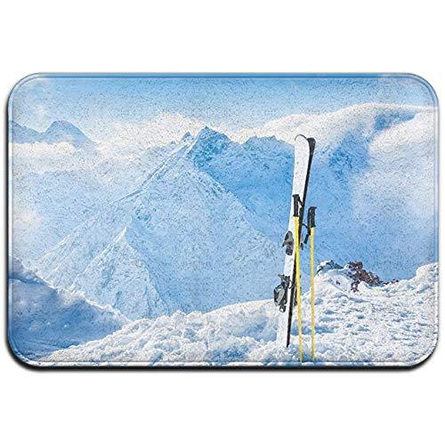 Qinzuisp Tapijt Top Ski Resort In de Franse Alpen badmat Home tapijt huisdeur matten Outdoor veranda rubber Indoor Garage vermelding tapijt standaard welkom 40 x 60 cm